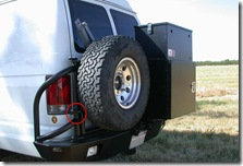 Tire extra gate hinge