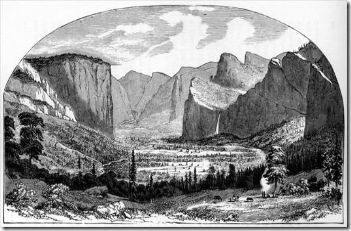 Ayres first sketch of Yosemite